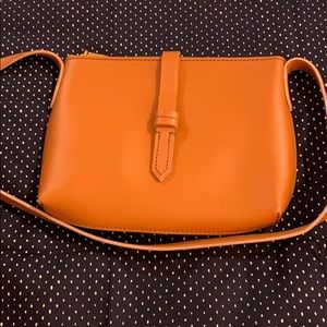 J by J.Crew leather crossbody honey brown NEW